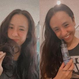 Mi cabello se siente increíble con John Frieda #AntesYDespuesLineaFrizzEase