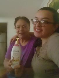 Foto con mi mami y la crema favorita #GanaConJergens
