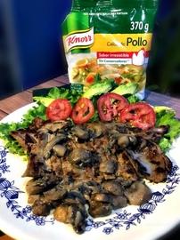 Filete de res con salsa de champiñones #YoCociKnorr