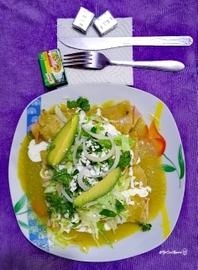 Enchiladas verdes con jamón #YoCociKnorr