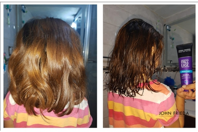 Transformando mi cabello con John Frfieda #AntesYDespuesLineaFrizzEase