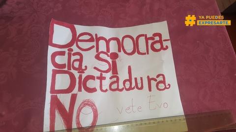Democracia si para bolivia y no dictadura evo #expresate