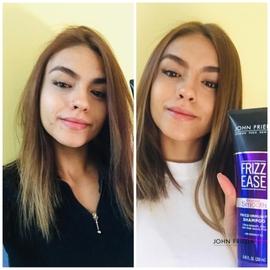 Un cabello más sano y brillante #AntesYDespuesLineaFrizzEase