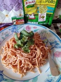 Espagueti rojo a la Knorr #YoCociKnorr