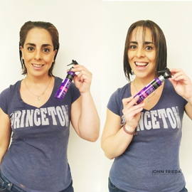 Frizz Ease Spray fija increíble #AntesYDespuesLineaFrizzEase