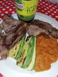 Bistec con frijoles y calabazas #YoCociKnorr