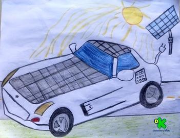 Auto con celda solar #CortosdeKids