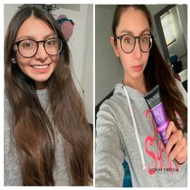 Confiada con nuevo cabello #AntesYDespuesLineaFrizzEase