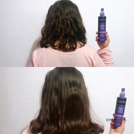 Cabello liso y sedoso #AntesYDespuesLineaFrizzEase