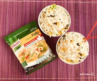 Un arroz japonés con chile poblano #YoCociKnorr